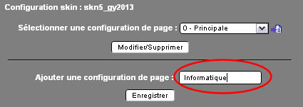 Nommer la page secondaire