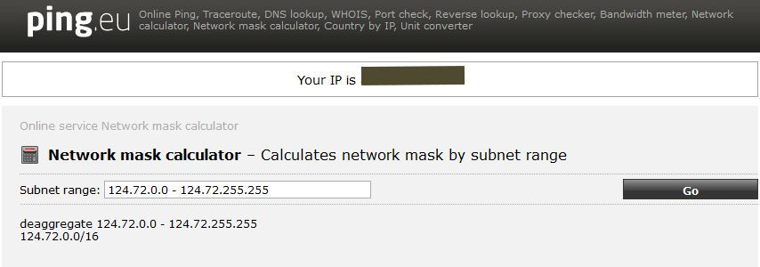 network mask calculator